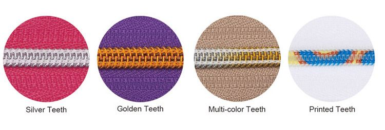 Nylon Zipper Teeth Color