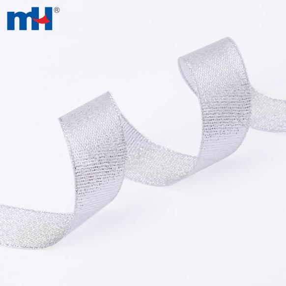 0080-2000-1 silver glitter ribbon