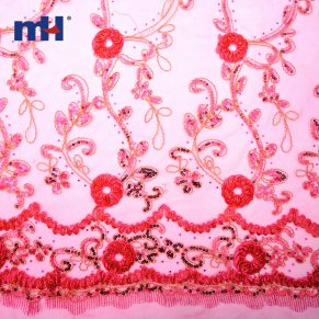 Sequins Lace Fabric 0610-0022