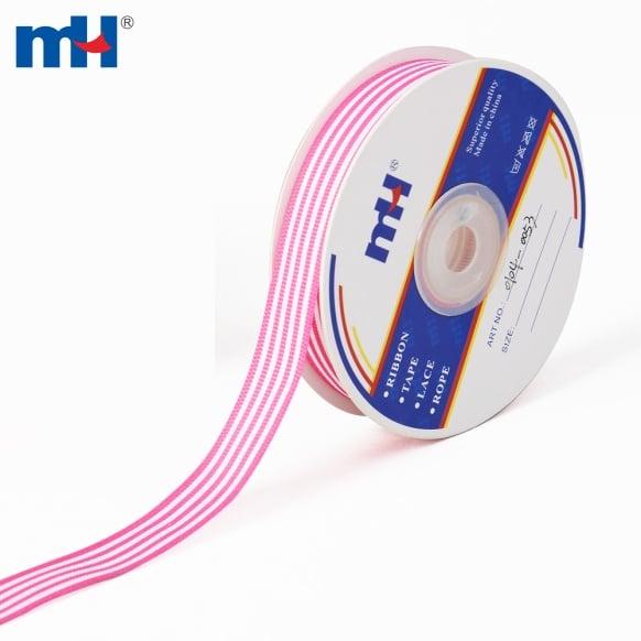 mono-striped grosgrain ribbon