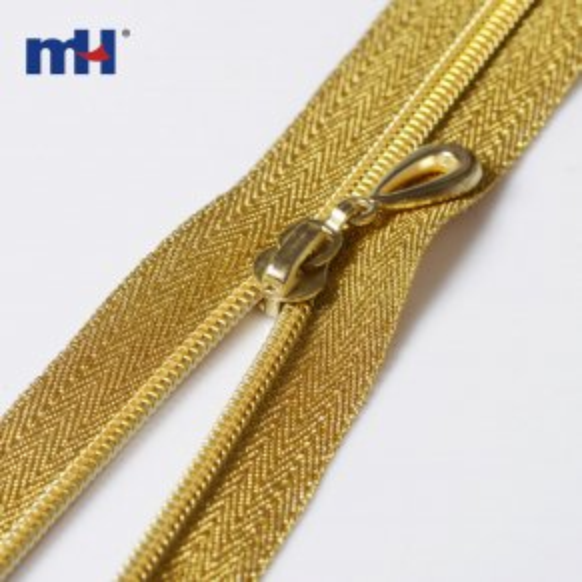golden teeth nylon zipper