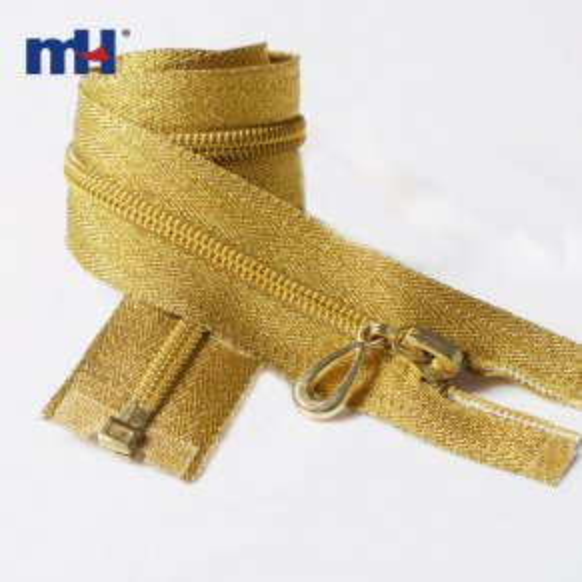 0222-5009 #5 Open end Golden teeth zipper