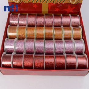 metallic christmas ribbon