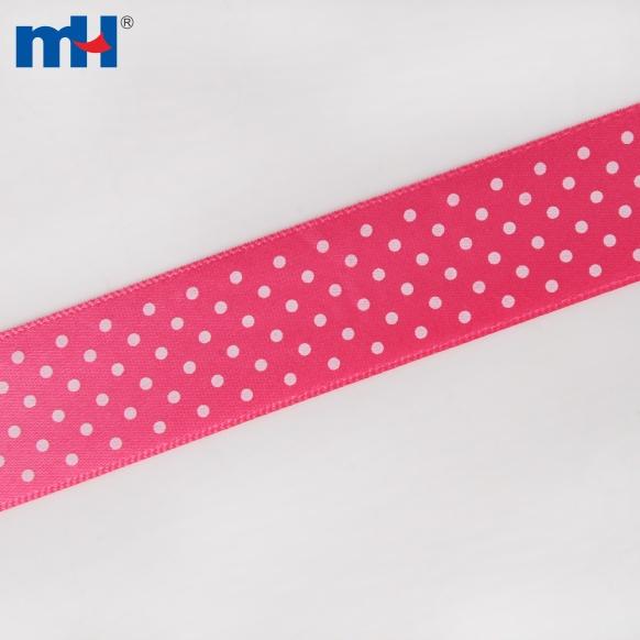 dot printed satin ribbon