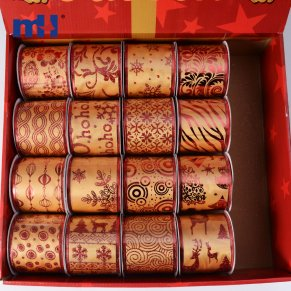 wired satin christmas ribbon