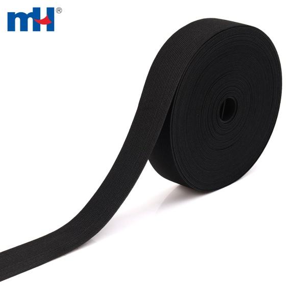 black knitted elastic