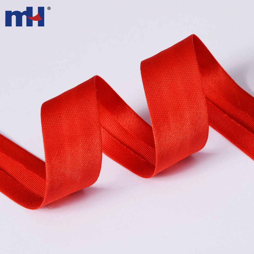 100% Polyester Single Fold Satin Bias Binding Tape 19mm