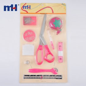 0340-6125-Sewing-Kit- (Chalk, -Needles, -Pins, -Sewing-Guage, -Scissors, -Seam-Ripper, -Tape-Measure, -Tracing-Wheel, -Pin-Cushion, -Thimble)