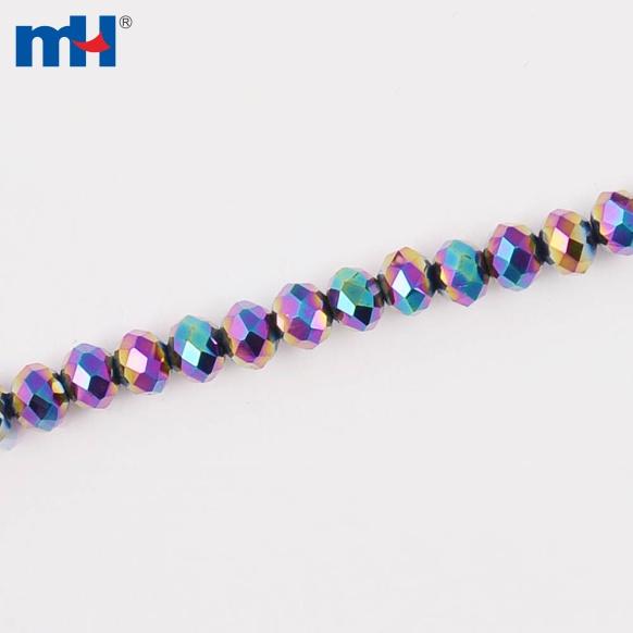 MHNE-0204    扁珠3mm电镀AB彩