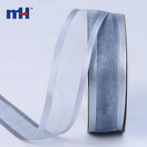 25mm organza ribbon satin edge