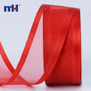 red satin edge organza ribbon