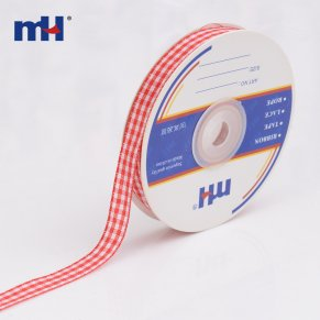 0090-1110  white and red gingham ribbon